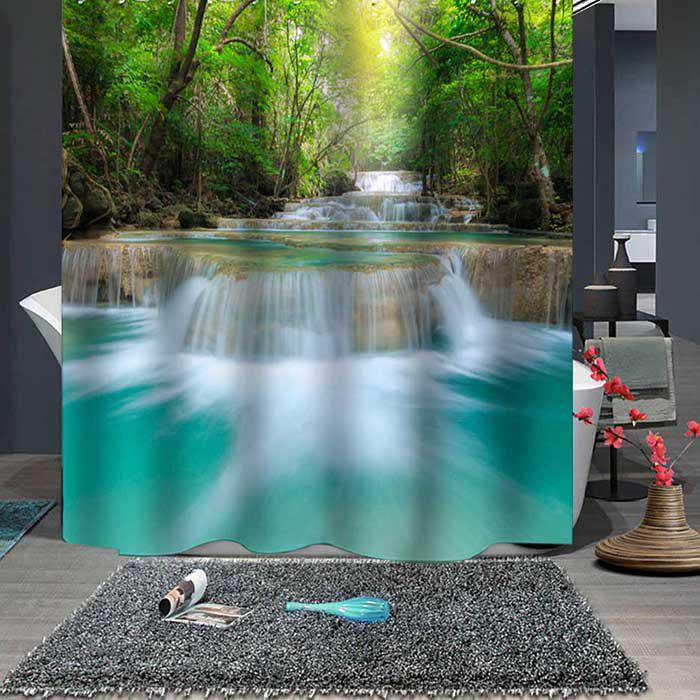 Store Forest Stream Boutique Shower Curtain