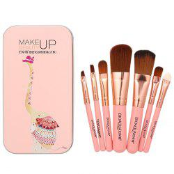 BIOAQUA Makeup Brushes Set Premium Synthetic Foundation Blending Face Powder Concealers Eye Shadows Tools Kit -