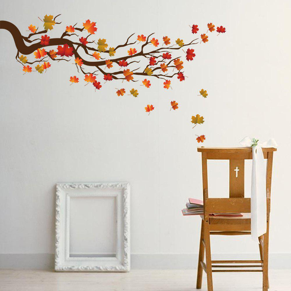 Best KM224 Personality Creative Branch Maple Leaf Self-adhesive Wall Sticker
