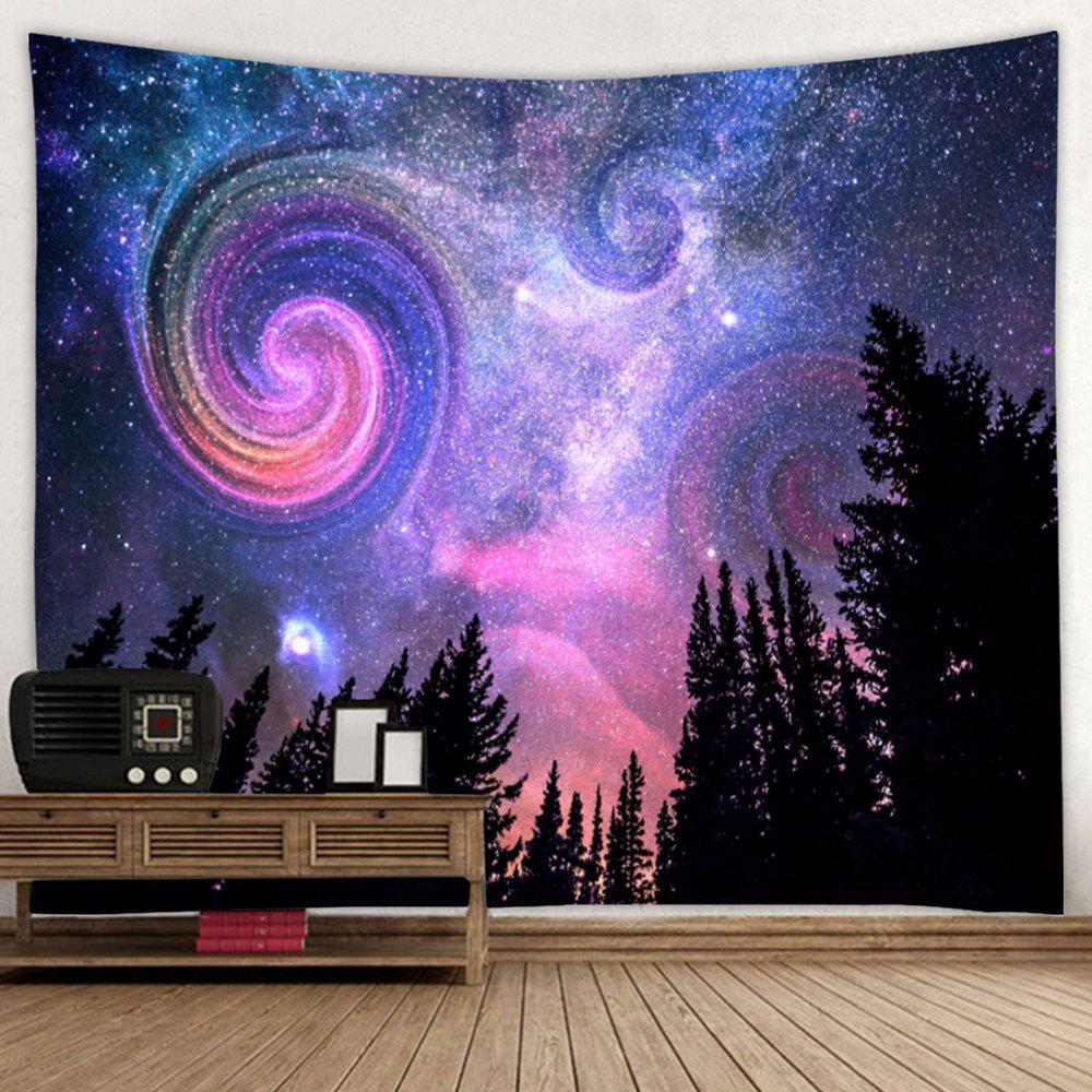 Outfit Shanghaojupin Night Sky with Trees Tapestry