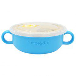 melado Children's Colorful Food Grade PP Material Stainless Steel Middle Bowl -