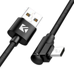 Floveme 90 Degree Elbow Quick Charging Micro USB 1m Data Cable -