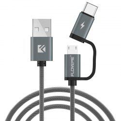 FLOVEME QC3.0 Fast Charge Micro USB / TYPE-C Data Cable -