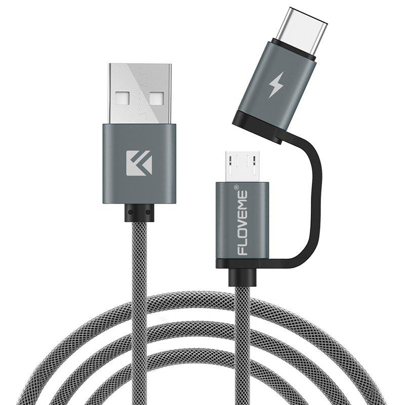 Latest FLOVEME QC3.0 Fast Charge Micro USB / TYPE-C Data Cable