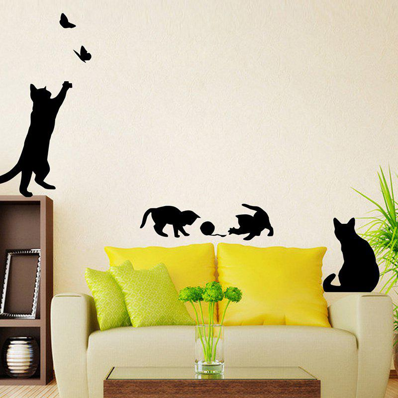 697 Personality Cute Cat Background Wall Sticker