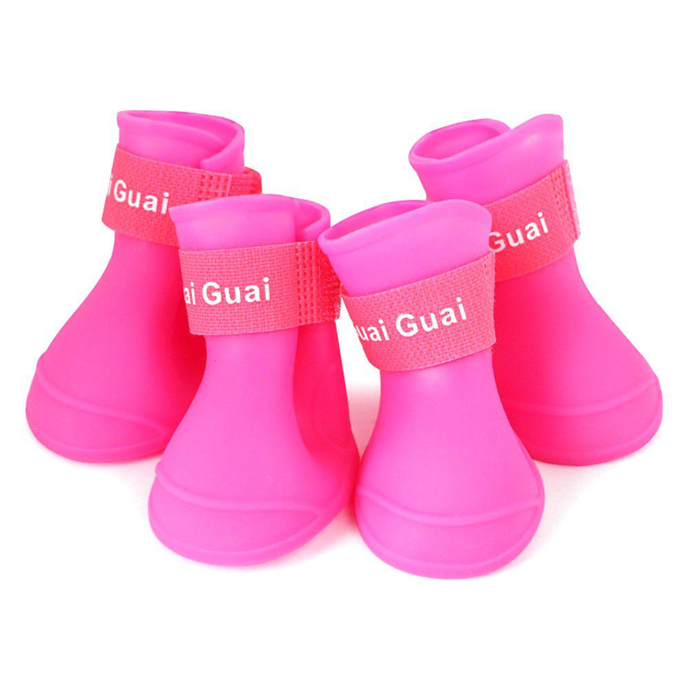 Affordable Pet Silicone Rain Boots 4pcs