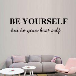 DX087 Be Yourself Personality Decoration Carved Wall Sticker -