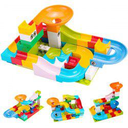 Tumama Construction Marble Race Run Maze Balls Track Building Blocks 52pcs -