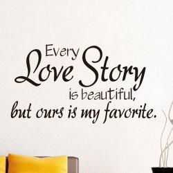 33002 Every Love Story Personality English Living Room Bedroom Decorative Wall Stickers -