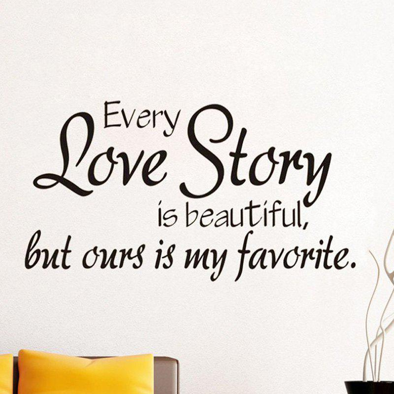 Outfit 33002 Every Love Story Personality English Living Room Bedroom Decorative Wall Stickers