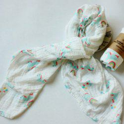 Baby Print Quilt Wrapped in Spring Autumn Winter Gauze -