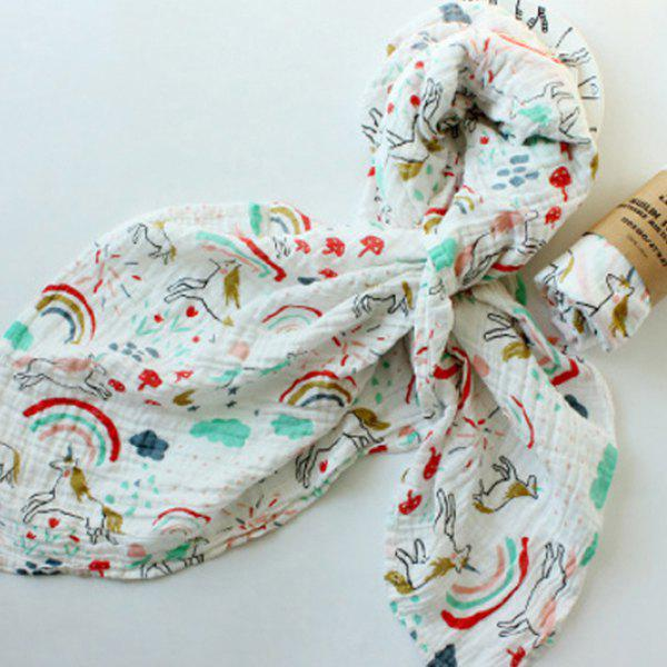 Trendy Baby Print Quilt Wrapped in Spring Autumn Winter Gauze