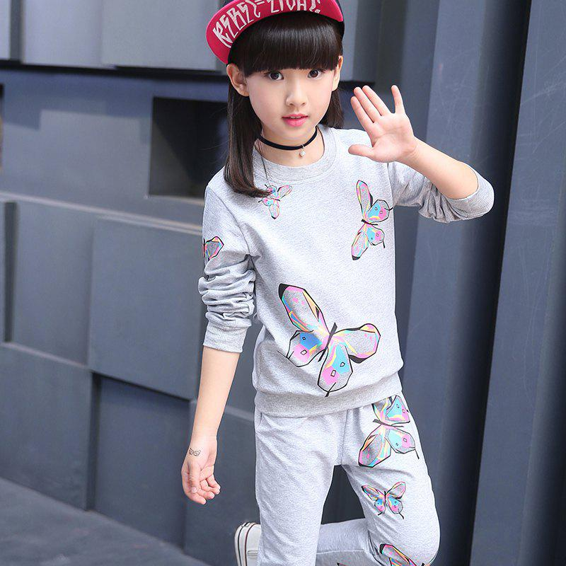Sale KH0246 Girls' Sportswear Butterfly Printing