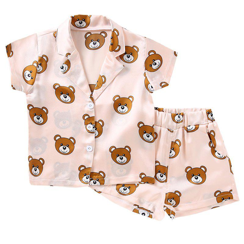 Sale Girls Home Fashion Bear Pajamas Set
