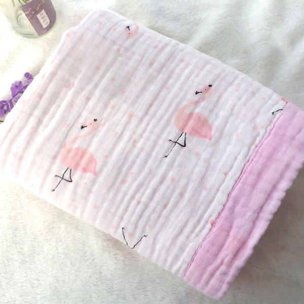Chic 115 x 115 Four-layer Baby Washed Gauze Wrap Towel Cotton Washed Gauze Newborn Hug