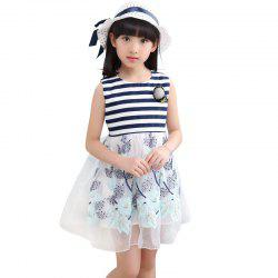 221 Girls Embroidered Flower Dress with Hat -