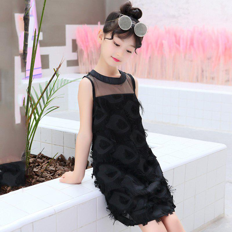 Discount 665 Girls Fashion Casual Feather Vest Dress
