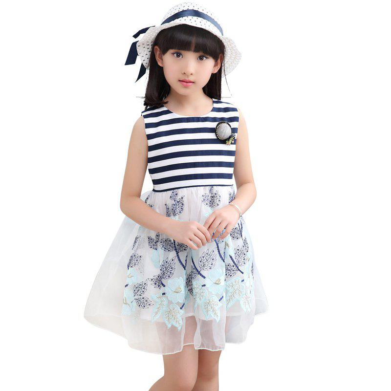 Best 221 Girls Embroidered Flower Dress with Hat