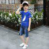 XXNH66 Body Denim T-shirt Shorts Fashion Casual Style for Boys -