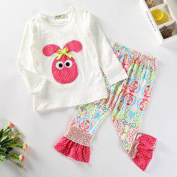 3265 Girls Cute Cartoon Embroidery Suit -
