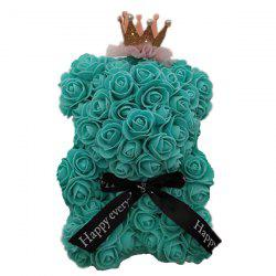 Mini Cute Crown PE Rose Bear Romantic Valentine Day Decoration -