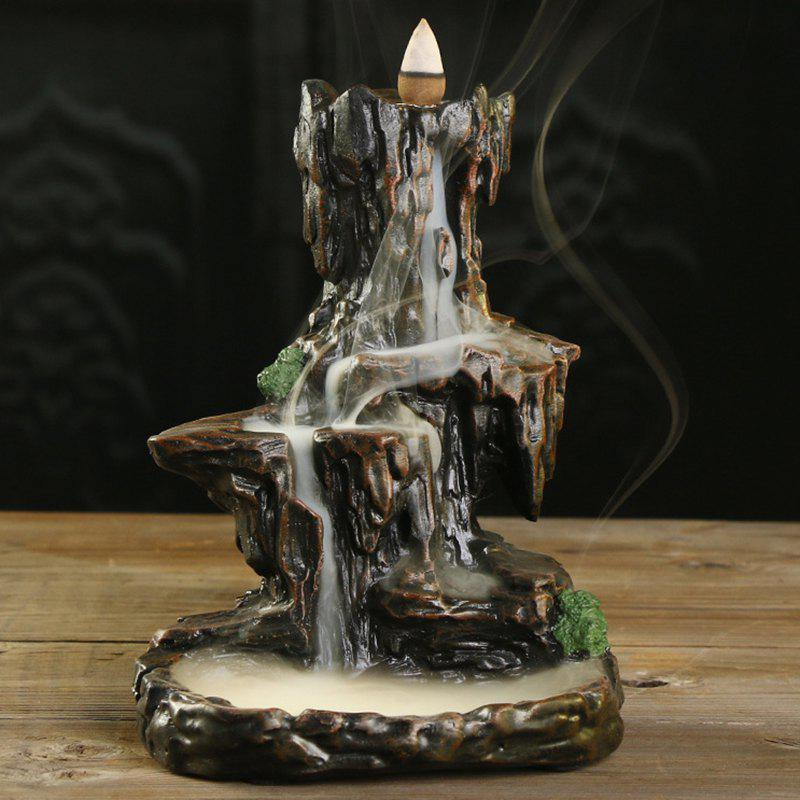 Fancy Craft Gift Mountain Water Backflow Aromatherapy Furnace Decoration