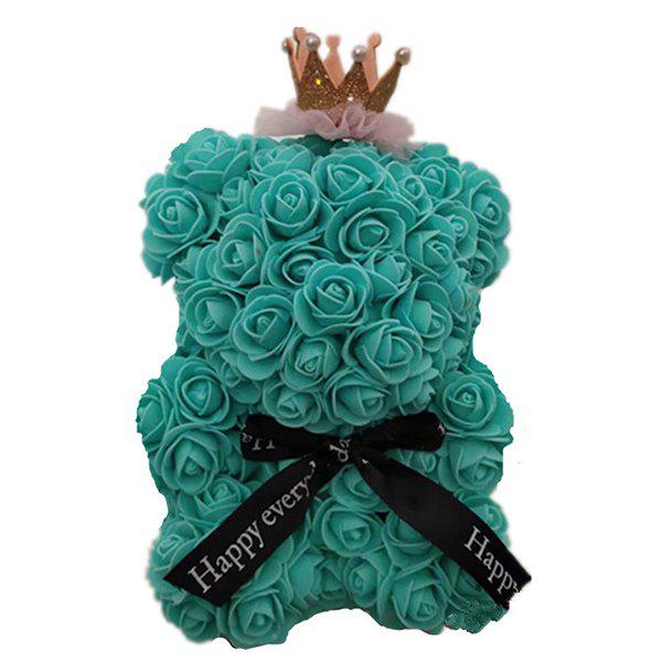 Sale Mini Cute Crown PE Rose Bear Romantic Valentine Day Decoration