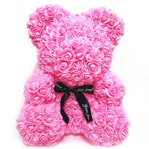 Valentine Day Gift Artificial PE Rose Bear Wedding Party Decoration Everlasting Flower
