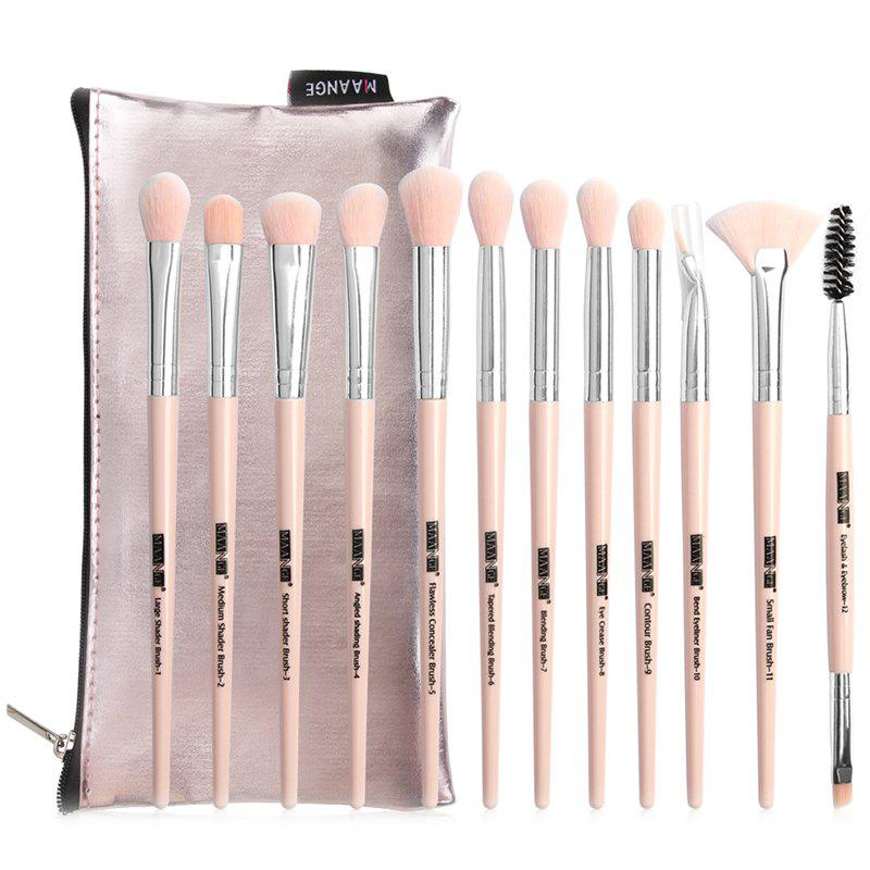 Unique MAANGE MAG5729sb Makeup Brush with Storage Bag 12pcs