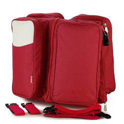 Insular 10038 2 in 1 Baby Travel Folding Bed Large Capacity Mummy Bag -
