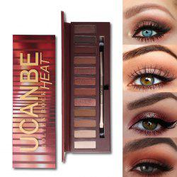UCANBE 12 Colors Pearlescent Matte Eyeshadow Disk -
