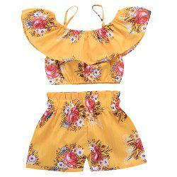 TDE1717 Girl Sweet Cotton Ruffled Set -