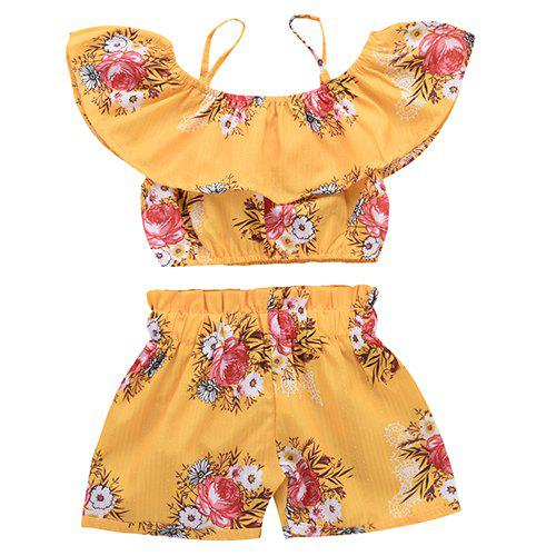 Shops TDE1717 Girl Sweet Cotton Ruffled Set
