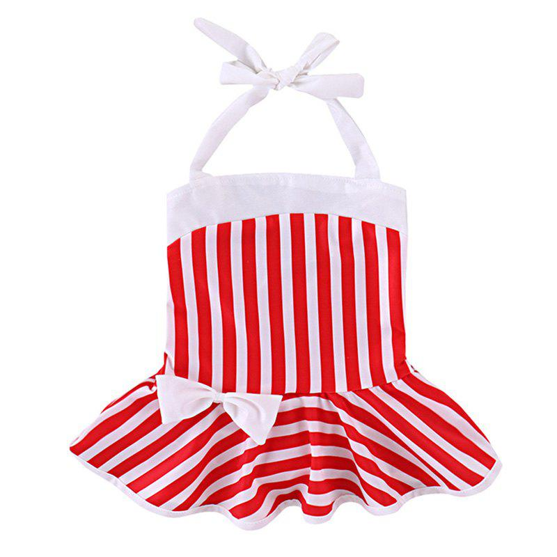 Unique YBB - S1 Fashionable Striped Bow Swimsuit