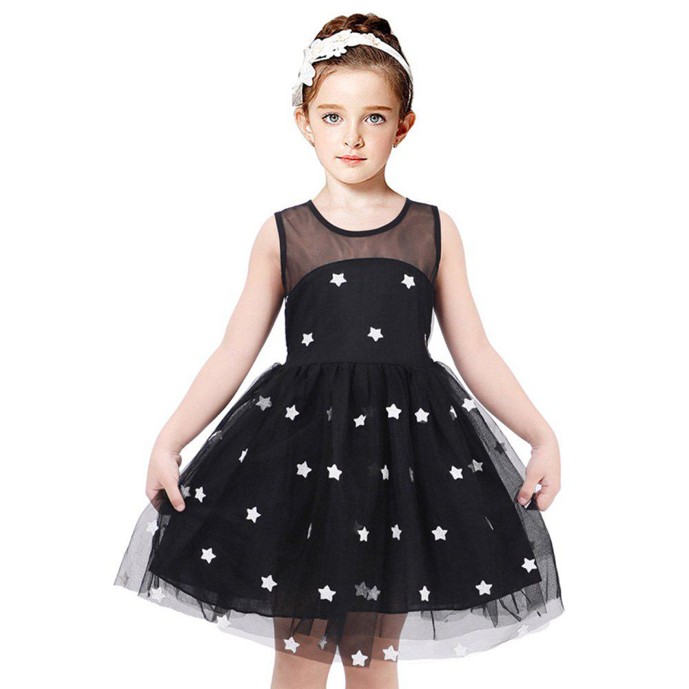 Outfits Duokipolla Girls Stars Mesh Embroidery Princess Dress