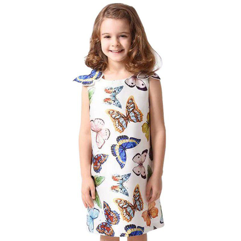 Store Duokipolla Girls Butterfly Tank Dress