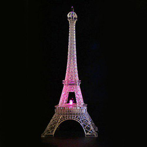Outfit Valentine's Day Romantic Illuminated Eiffel Tower Colorful Night Lights Creative Decoration