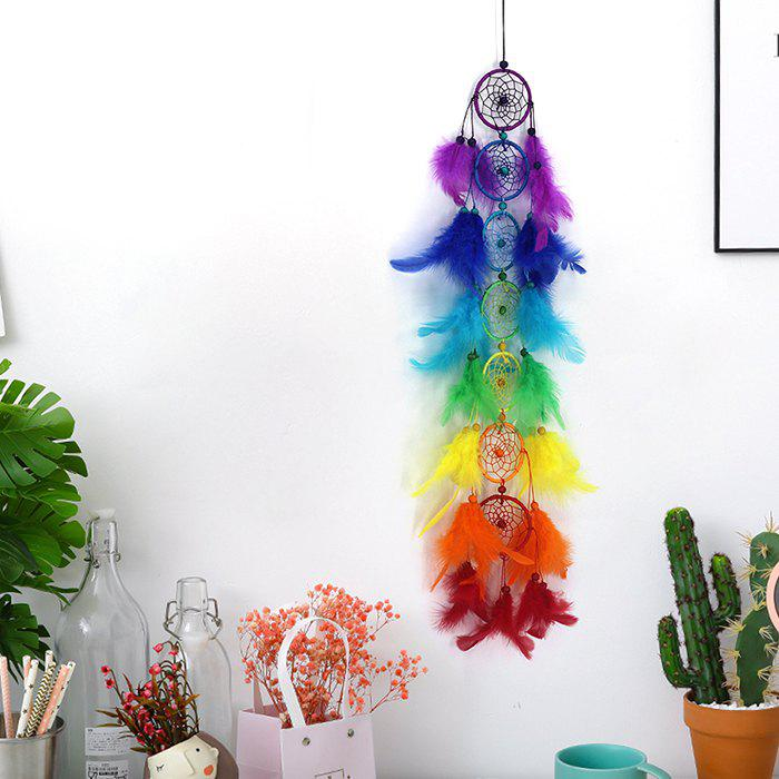 Trendy Colorful Seven Rings Dream Catcher