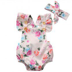 GG223 Girl Printed One-piece Garment with Headband -