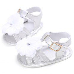 912 Baby Casual Soft Sole Girls Flower Decoration Anti-slip Toddler Shoes for 0 - 1 Years Old -