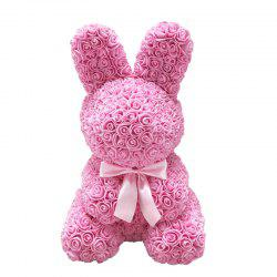 Simulation Rose Bunny Easter Mother's Day Gift -