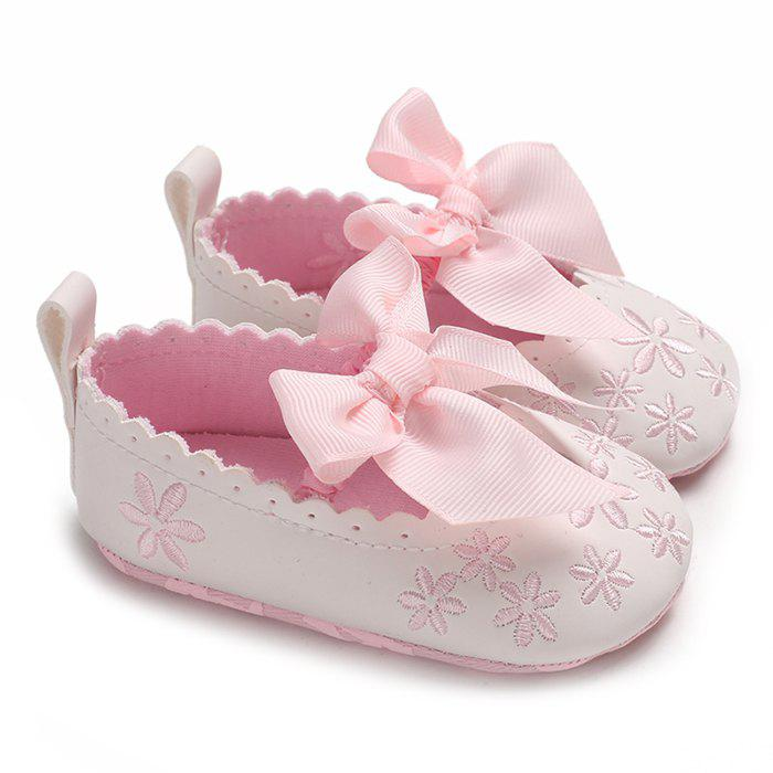 Online c - 534 Baby Casual Soft Sole Girls Bowknot Anti-slip Toddler Shoes for 0 - 1 Years Old