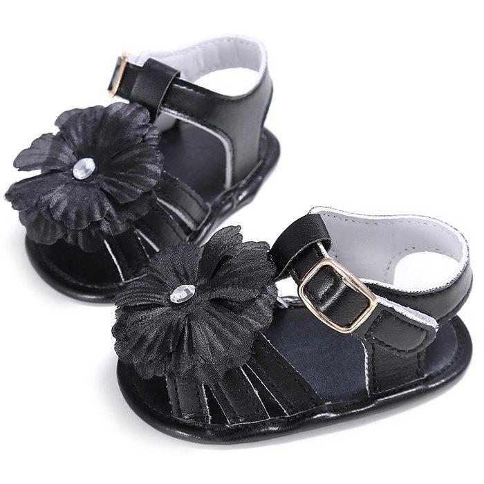 Fashion 912 Baby Casual Soft Sole Girls Flower Decoration Anti-slip Toddler Shoes for 0 - 1 Years Old
