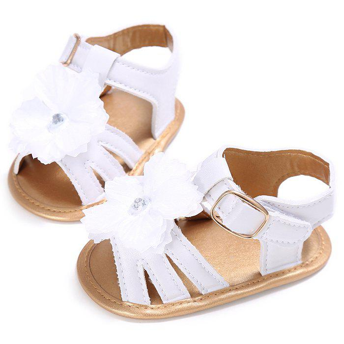 Online 912 Baby Casual Soft Sole Girls Flower Decoration Anti-slip Toddler Shoes for 0 - 1 Years Old