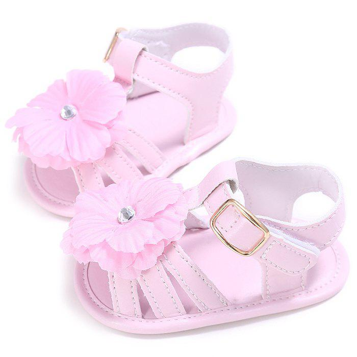 912 Baby Casual Soft Sole Girls Flower Decoration Anti-slip Toddler Shoes for 0 - 1 Years Old