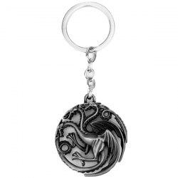 Hollow-out Dragon Keychain -