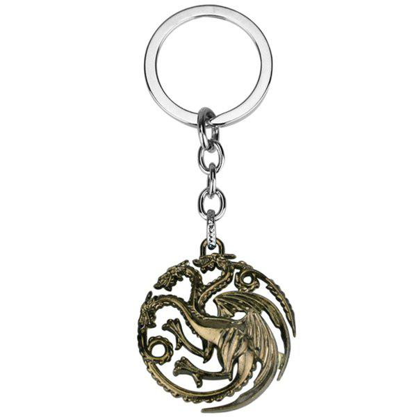 Latest Hollow-out Dragon Keychain