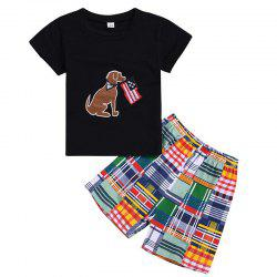 Boy Short Sleeve T-shirt Shorts Suit -