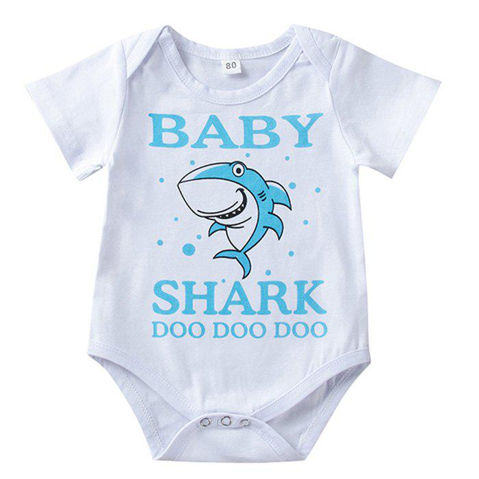 Outfit Cartoon Shark Alphabet Print Infant Romper Children Jumpsuit