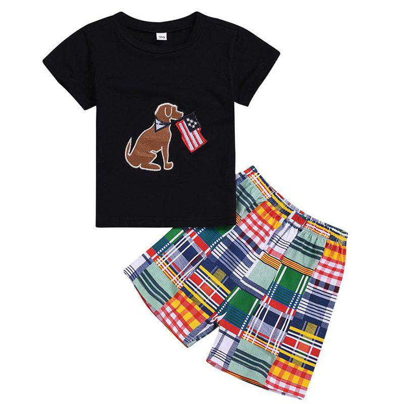 Outfits Boy Short Sleeve T-shirt Shorts Suit